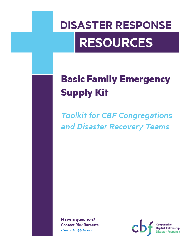 Microsoft Word - CBF Toolkit   Basic Family Emergency Supply Kit